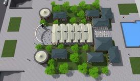 公园3D 免版税图库摄影