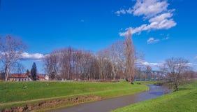 公园anf散步在Pozega 免版税图库摄影