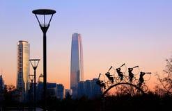 公园Bicentenario,圣地亚哥智利 库存照片