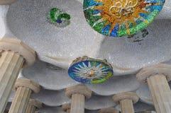 公园Güell瓦片艺术 库存图片