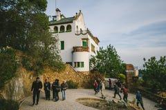 公园Guel在巴塞罗那,西班牙 免版税库存照片