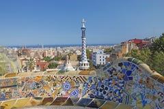 公园GUEL在巴塞罗那 免版税库存图片