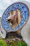 公园Guell在巴塞罗那,卡塔龙尼亚,西班牙 免版税库存照片