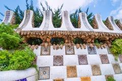 公园Guell墙壁 库存照片