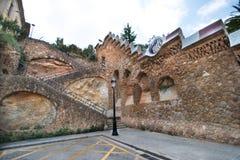 公园Guell墙壁 图库摄影