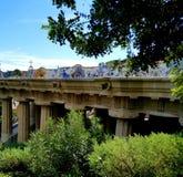 公园Guell巴塞罗那-惊人的看法! 库存照片