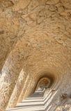 公园Guell细节在巴塞罗那,西班牙 免版税库存图片