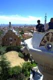 公园Guell观点,巴塞罗那 库存照片