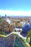 公园Guell视图,巴塞罗那 库存照片