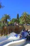 公园Guell长凳,巴塞罗那 免版税库存图片
