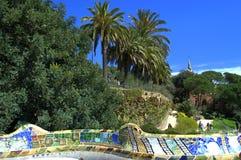 公园Guell风景,巴塞罗那 库存图片