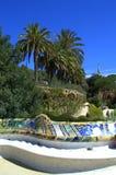 公园Guell马赛克,巴塞罗那 库存图片