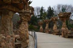 公园Guell, Barselona,西班牙 库存照片