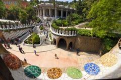 公园Guell -巴塞罗那西班牙 免版税图库摄影