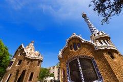 公园Guell -巴塞罗那西班牙 库存图片