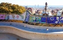 公园Guell细节。巴塞罗那 库存图片