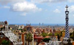 公园Guell Antoni Gaudi 免版税库存照片