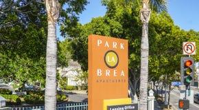 公园La Brea公寓-洛杉矶-加利福尼亚- 2017年4月20日 免版税库存照片