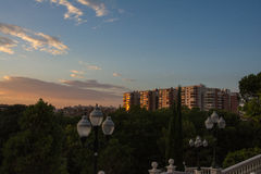 公园Labordeta在萨瓦格萨 免版税库存图片