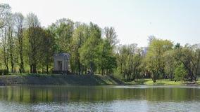 公园Pobedy在圣彼得堡 免版税库存照片