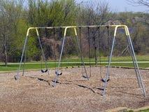 公园swingset 图库摄影