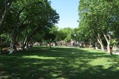 公园Topkapi宫殿外在伊斯坦布尔,土耳其 图库摄影