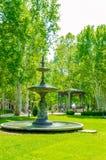 公园Zrinjevac在萨格勒布,喷泉 库存照片