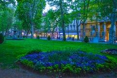 公园zrinjevac在萨格勒布 免版税库存图片