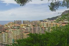 公国Monako.Monte Carlo.urban风景 克罗monte 免版税库存图片