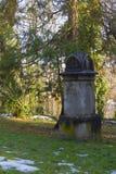 公墓在克罗地亚 库存照片