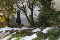公墓在克罗地亚 免版税库存图片