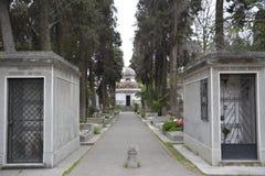 公墓在圣地亚哥,智利 库存照片