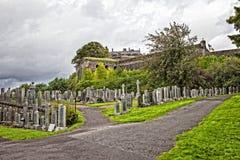 公墓在斯特灵 免版税库存照片