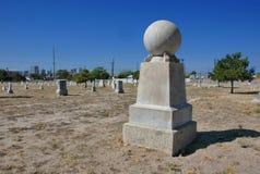 公墓在新墨西哥沙漠 免版税库存照片