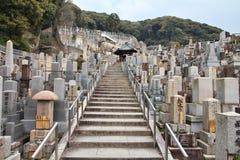 公墓在日本 库存照片