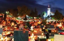 公墓在晚上 免版税图库摄影