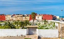 公墓在杰迪代镇在摩洛哥 免版税库存照片