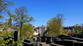 公墓在爱丁堡 库存图片
