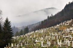 公墓在特拉夫尼克 达成协议波斯尼亚夹子色的greyed黑塞哥维那包括专业的区区映射路径替补被遮蔽的状态周围的领土对都市植被 图库摄影
