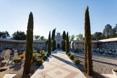 公墓在西尔苗内 免版税库存图片