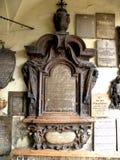 公墓在镇萨尔茨堡,奥地利的中心 免版税图库摄影