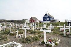 公墓格陵兰Qeqertarsuaq 免版税库存图片