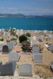 公墓看法在圣特罗佩,法国 免版税图库摄影