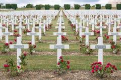 公墓第一位世界大战战士死了在凡尔登战役, Fran 免版税库存照片