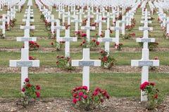 公墓第一位世界大战战士死了在凡尔登战役, Fran 免版税库存图片