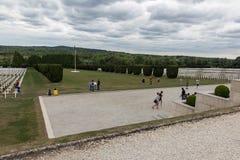 公墓第一位世界大战战士死了在凡尔登战役, Fran 免版税图库摄影