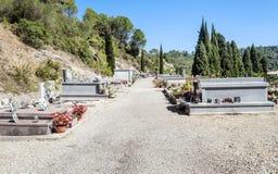 公墓lagrasse 图库摄影