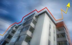 公寓价格上升 库存照片