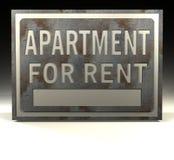 公寓信息租金符号 向量例证