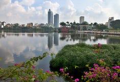 公寓在河内,越南住宅区  库存照片